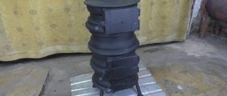 Буржуйка для гаража из старых дисков: делаем печь буржуйку своими руками