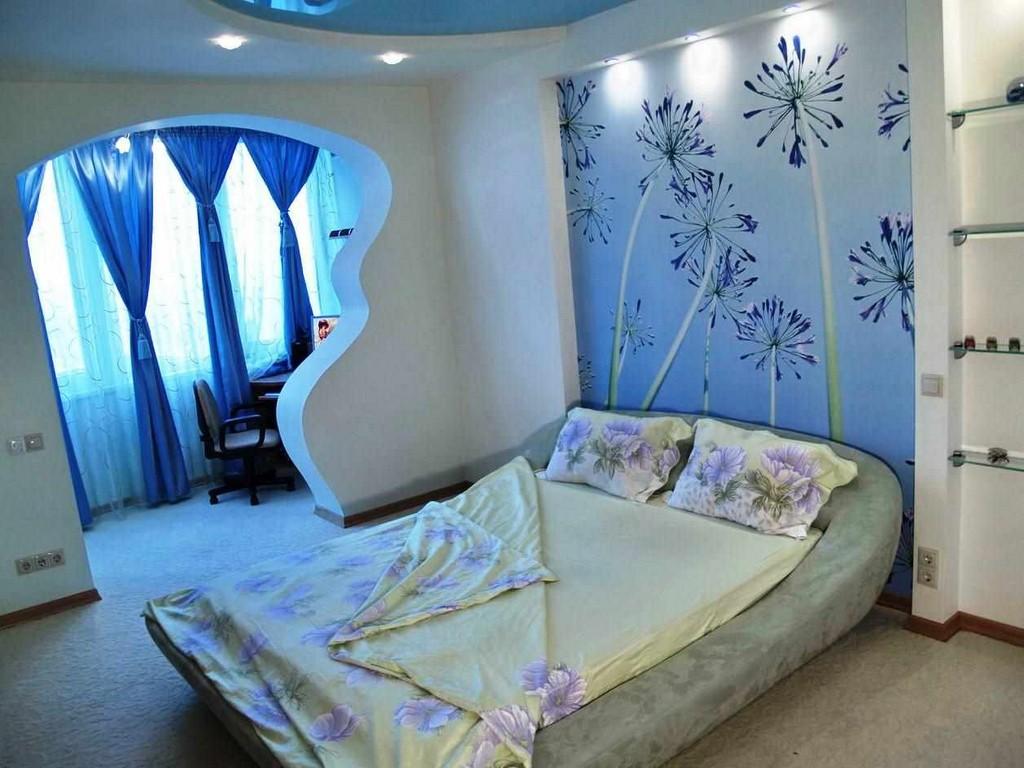 Фото дизайн-проектов спальни разных цветов