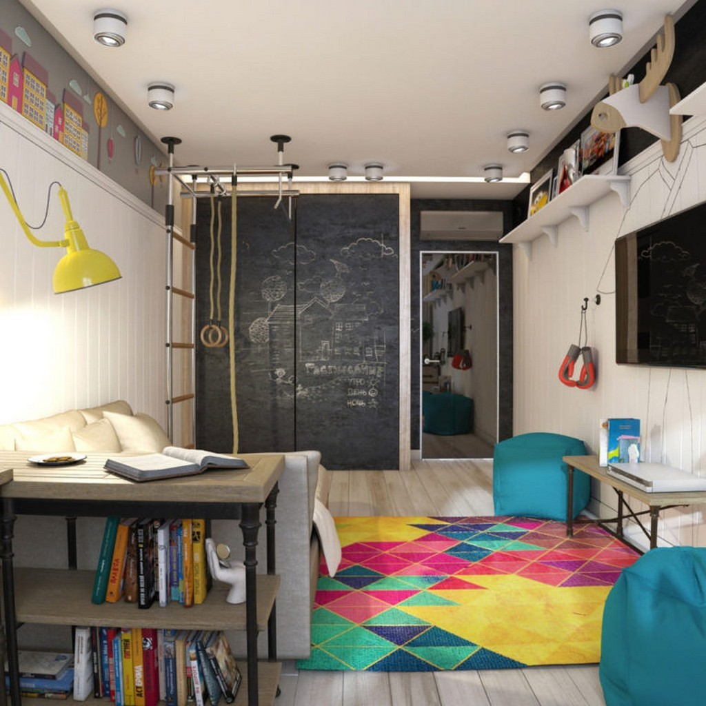 Дети и спорт. Дизайн детской комнаты