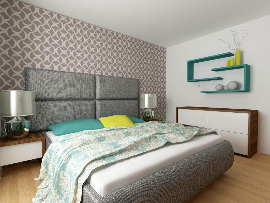 Спальня с флизелиновыми обоями
