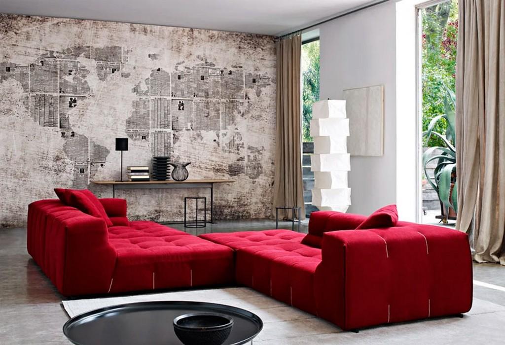S-образный вид углового дивана