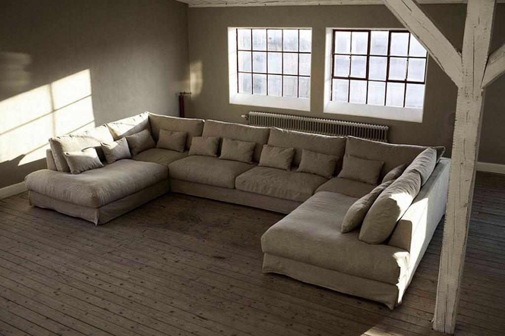 П-образный вид углового дивана